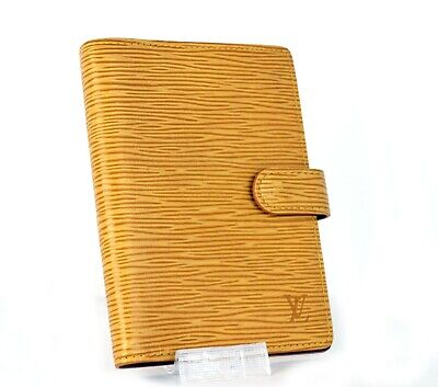 Auth LOUIS VUITTON Yellow Epi Leather PM Agenda Organizer Dairy Planner Spain