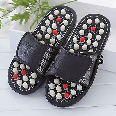 Acupressure Slippers Color Black Size 6 For Relax Your Full Body And Pain Relief