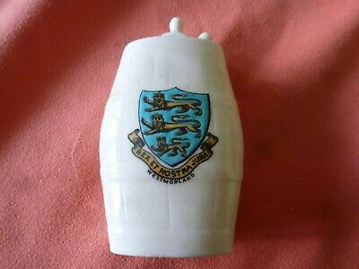 A Piece Of 'Goss' Crested China In The Form Of An Army Water Bottle - Westmorla