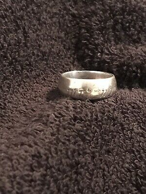 sterling silver lord of the rings ring size M