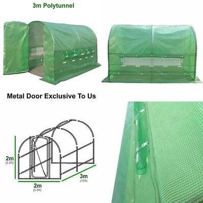 FeelGoodUK PRO Polytunnel Greenhouse Pollytunnel Poly Polly Tunnel Fully Galvani