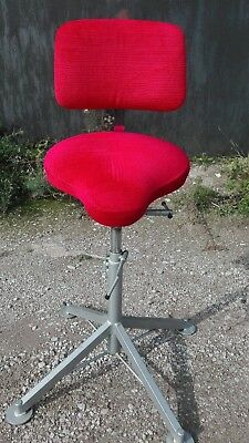 Vintage Swedish Industrial stool Machinist  Adjustable Stool Mercado Rehab