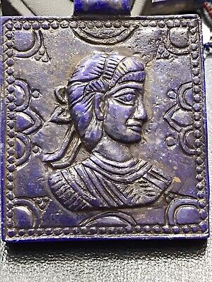 Ancient Sassanian king Lapis lazuli Stone Wonderful Statue tablet