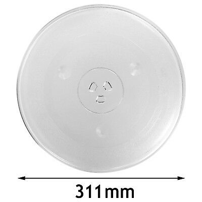 """COOKWORKS Genuine Microwave Glass Round Turntable Tray Plate (311mm / 12.25"""")"""