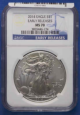 2014 American Silver Eagle NGC MS 70 Early Releases.