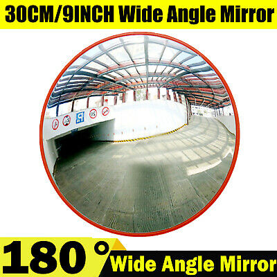 30CM Wide Angle View Security Curved Convex Road Mirror Traffic Driveway Safety