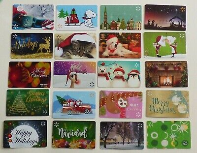 WALMART Christmas Collectible Gift Cards / Holiday - LOT of 20 Diff - No Value