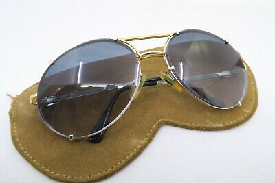 Vintage Bugatti sunglasses with pouch made in France men's M gradient tinted
