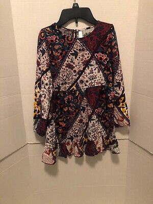 Little Girls xhilaration dress Multi Colored Long Sleeve Size 6/6x