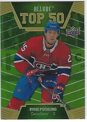 2019-20 19-20 Ud Allure Top 50 Green Ryan Poehling  # T50-50    29/50 Rare