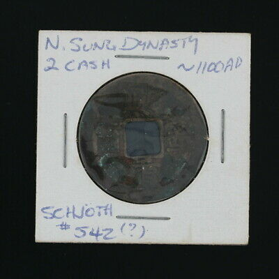Antique Chinese Coin 2 Cash North Sung Dynasty Schjoth 1100AD
