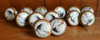 13 Country Chicken Ceramic Drawer Cabinet Pulls Knobs