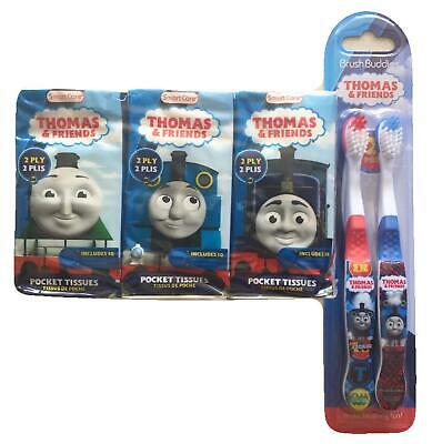 Toddlers 2 Thomas The Tank Engine Train Toothbrush Tissues