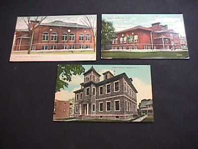 1911 & 1916 Pember Library & High School Granville, New York Postcards