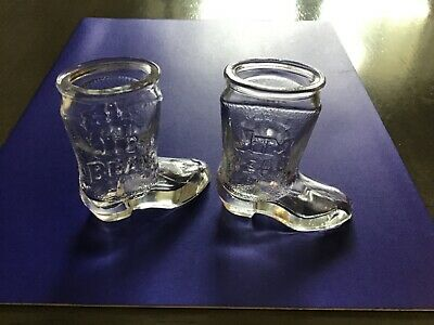 Jim Beam Boot Shot Glasses, Set of 2, Condition is Used