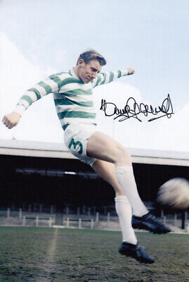 HAND SIGNED 12x8 PHOTO : CELTIC 1966 TOMMY GEMMELL