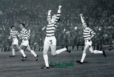 HAND SIGNED 12x8 PHOTO : CELTIC 1970 TOMMY GEMMELL