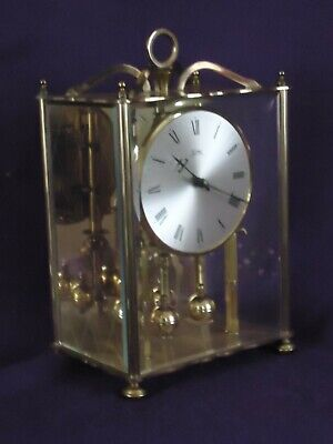 Vintage Kama 3 Glass Brass 400 Day Anniversary Clock. Spares Or Repair.