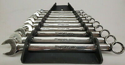 Snap On 10 pc Metric Wrench Set 10-19mm 12 point SOEXM710 / OEXM710B Made in USA