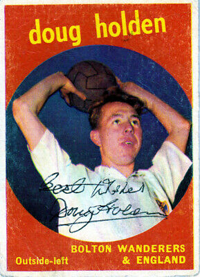 Hand Signed A & Bc 1960 Trading Card : Doug Holden - Bolton Wanderers