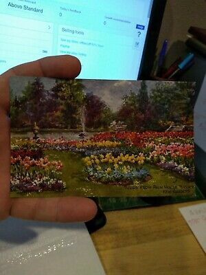 Antique Postcard: #3584 Tulips from Palm House Terrace, Kew Gardens   UNUSED