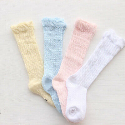 Infant Baby Girls Boys Cotton Knee High Socks Summer Anti-Mosquito Stockings