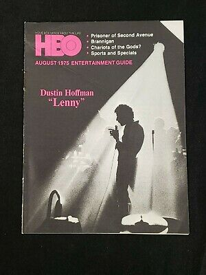 1975 August *Lenny-Hoffman* Hbo Home Box Office Entertainment Guide (As)