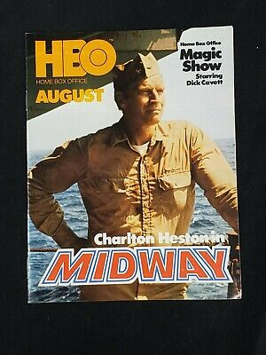 1977 August *Midway-Heston/Fonda/Ford* Hbo Home Box Office Guide (As)