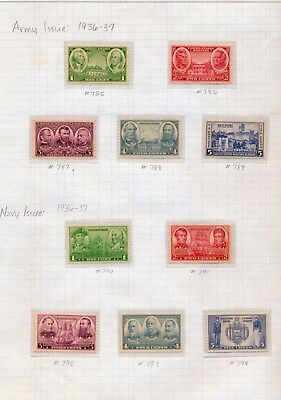 Complete Set/Collection - Army And Navy Issue - #785 Thru #794 - Years 1936/37