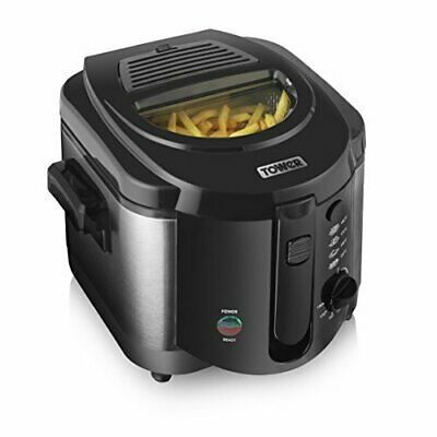 Tower Deep Fryer, 1500W, 2 Litre, Compact Stylish Black/Silver NEW!