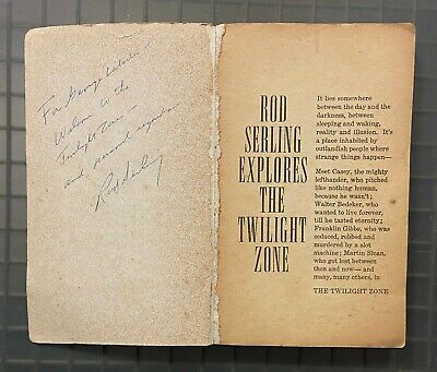 Rod Serling Signed THE TWILIGHT ZONE Softcover Book Autographed PSA/DNA LOA AUTO