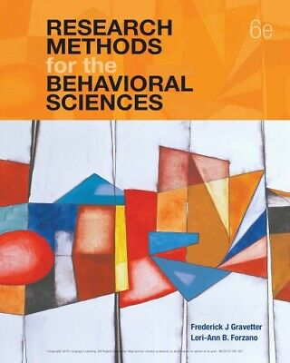 (P D F) Research Methods for the Behavioral Sciences - 6th edition