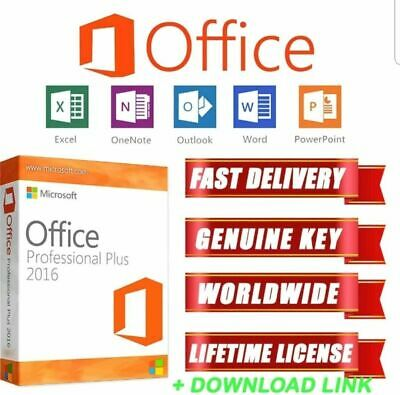 Microsoft Office 2016 Professional Plus - Original Key & ESD Official Download -