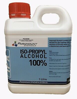 Isopropyl Alcohol Pure- 1 Litre - Isopropanol IPA Rubbing Alcohol 100%