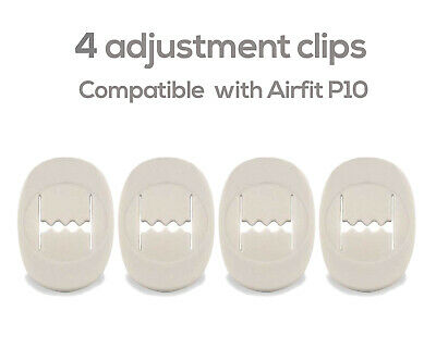 CPAP headgear Adjustment clips compatible with Resmed Airfit P10