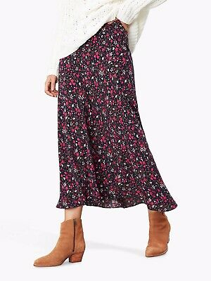 Bnwt Joules Coletta Navy Multicoloured Ditsy Print Skirt Size 16 New Rrp £59.95