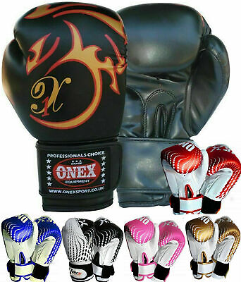 6oz Fighting Gloves Boxing Kickboxing Sparring & Training for Punch Bag Mitts