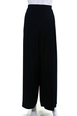 Planet Womens Elastic Wide Leg Knit Pants Navy Blue Size Small