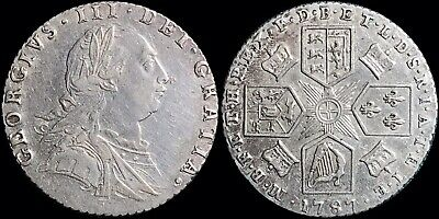 1787 Great Britain 6 Pence (Sixpence) KM #606 George III Foreign Silver Coin