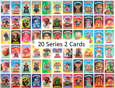 Garbage Pail Kids GPK (20 CARDS) 1980's Lot x20 Series 2 Good Condition Funny