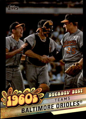 2020 Topps Series 1 BALTIMORE ORIOLES Decades' Best BLACK /299 #DB-27