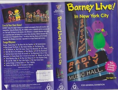 BARNEY LIVE IN New York CITY  VHS VIDEO PAL~ A RARE FIND~