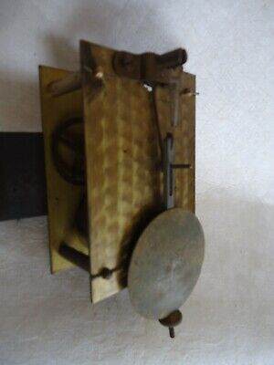 Antique Clock Movement From Station Wall Clock. Spares Or Repair