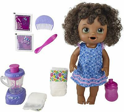 Baby Alive Magical Mixer Baby Doll Berry Shake Black Hair Kid Toy Gift