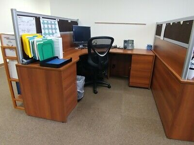 Used Office Cubicles, Global Adaptabilities 6x6 Cubicles