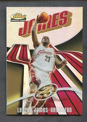Lebron James 2003-04 Topps Finest Basketball #133 Rookie Refractor #185/250 Rc