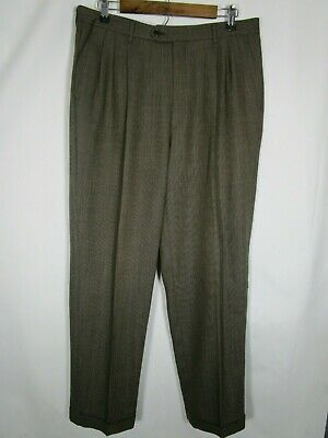 Vito Rufolo Giovanni Tonella Men's 100% Wool Pleated Front Dress Pants 34/42