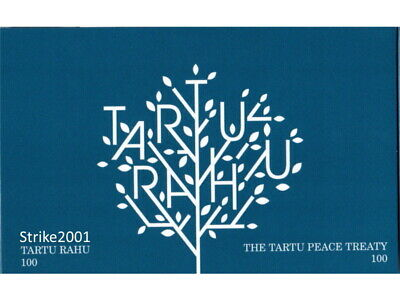 NEW !!! COIN CARD 2 EURO COMMEMORATIVO ESTONIA 2020 100° Trattato di Tartu