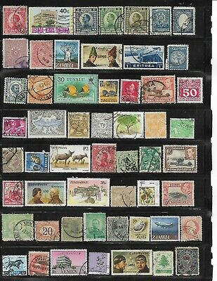 107 different used Worldwide stamps.