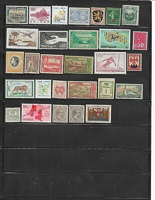 92 different mint Worldwide stamps.